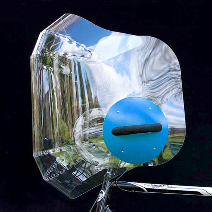 Windschild-Blau